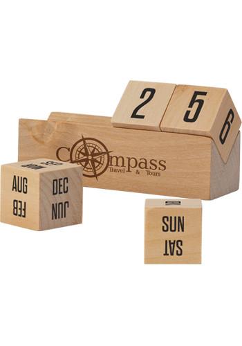 Boa 4 Inch Wooden Perpetual Calendars