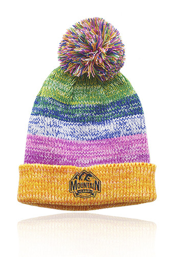 Promotional Bodga Multi-Color Knitted Pom Pom Beanies