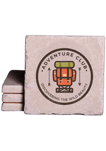 Wholesale Botticino Marble Coasters in Full Color