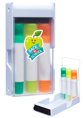 Custom Boxi Gel Highlighters Set Including Screen Cleaner