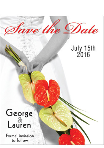 Wholesale Bride and Flowers Save the Date Magnets