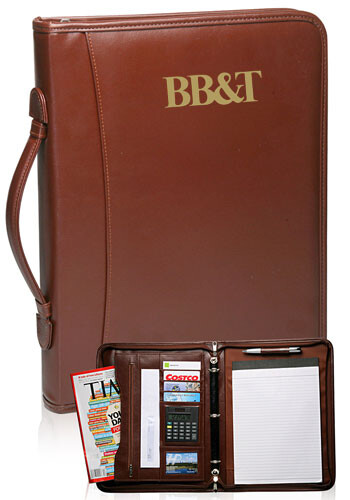 Brown Leather Binder Portfolios | PF46