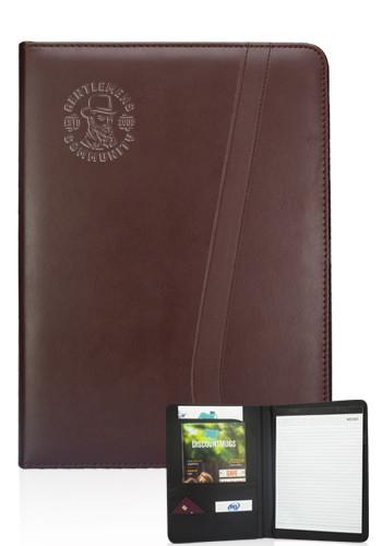 Personalized Brown Leatherette Portfolios