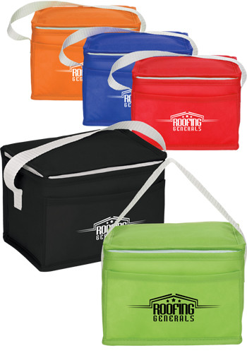 Custom Budget Non-Woven 6 Can Lunch Coolers