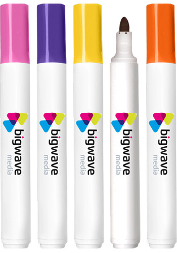 Custom Bullet Tip Dry Erase Marker - USA Made - Full Color Decal