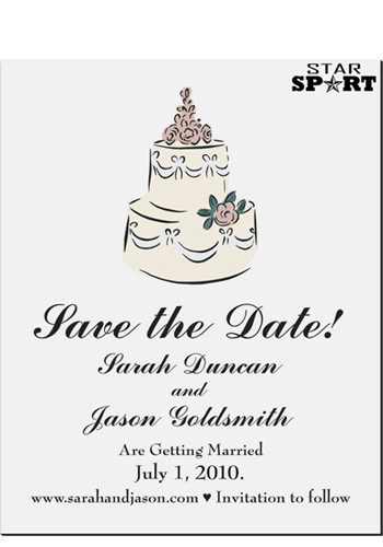 Cake Save the Date Magnets | MGS2170E
