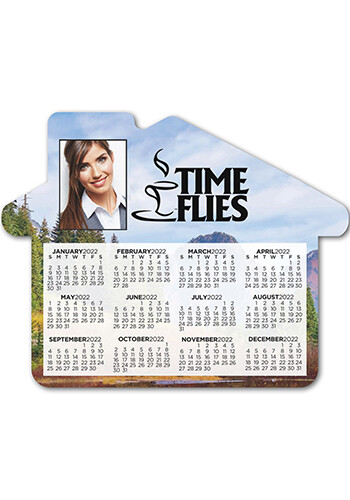 Personalized Calendar House 4.69inch x 3.75inch Magnets