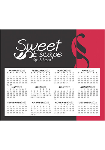Customized Calendar Sq Crnr 3.91inch x 3.41inch Magnets