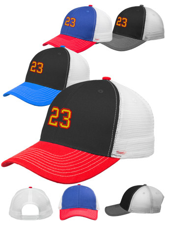 Tri-Color Baseball Caps