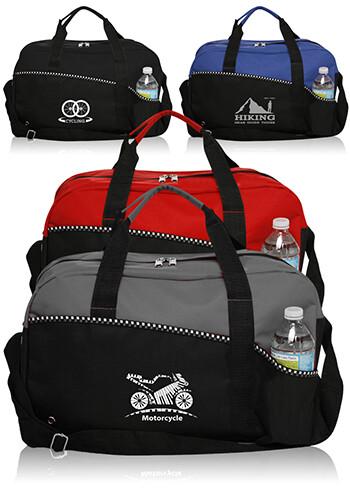 Custom Center Court Duffel Bags