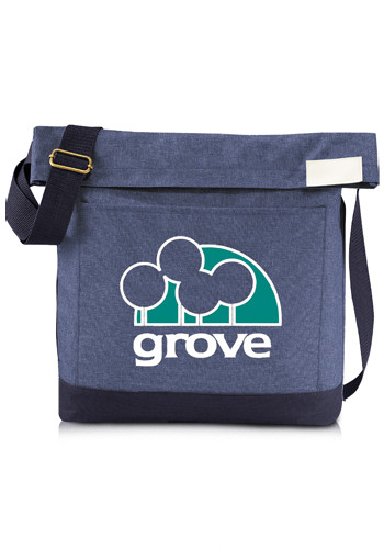 Custom Chambray Foldover Tablet Tote Bags