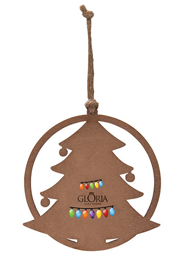 Personalized Christmas Tree Wood Ornaments