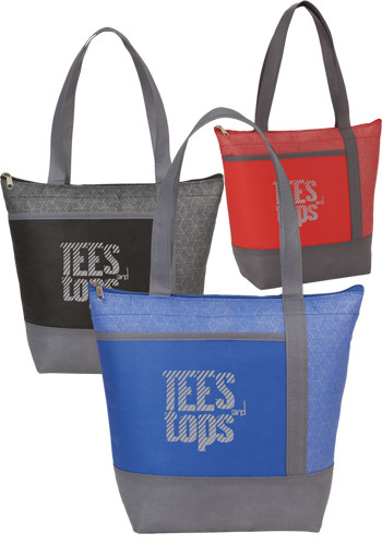 Personalized Chrome Non-Woven 9 Can Lunch Coolers