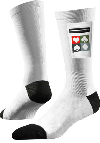 Promotional Classic Utility White Crew Socks