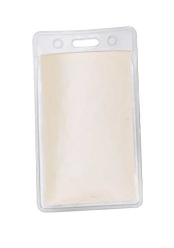 Promotional 2W x 3H in. Clear Vertical Vinyl Pouches