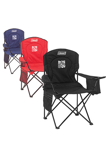 Personalized Coleman Cushioned Cooler Quad Chair