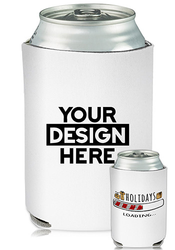 Bulk Collapsible Can Cooler Holidays Loading Print