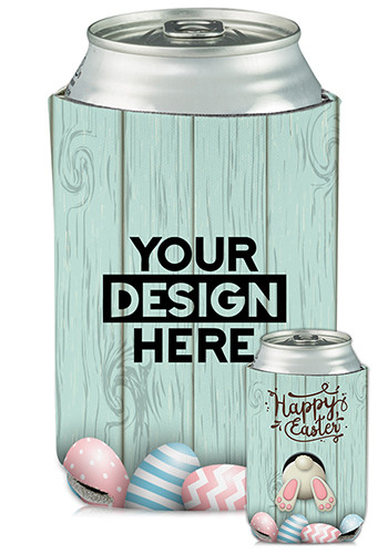 Bulk Collapsible Can Coolers Easter Print