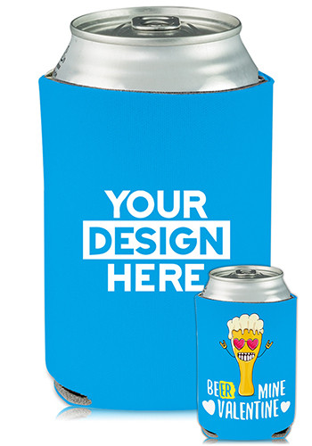Personalized Collapsible Can Coolers Funny Valentine Print
