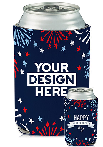 Wholesale Collapsible Can Coolers Independence Day Print