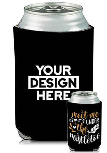 Wholesale Collapsible Can Coolers Mistletoe Print