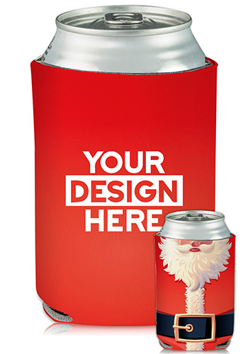Personalized Collapsible Can Coolers Santa Suit Print
