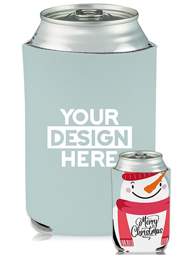 Bulk Collapsible Can Coolers Snowman Print