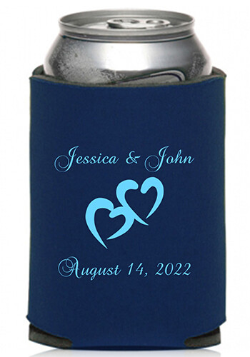 Collapsible Couple Wedding Can Coolers