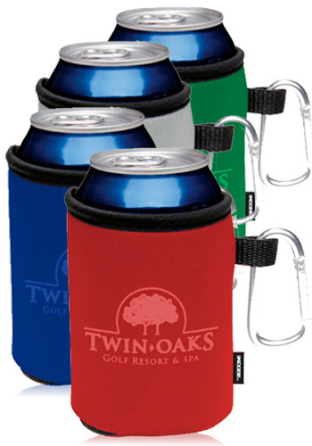Custom Collapsible KOOZIES Can Kooler with Carabiner