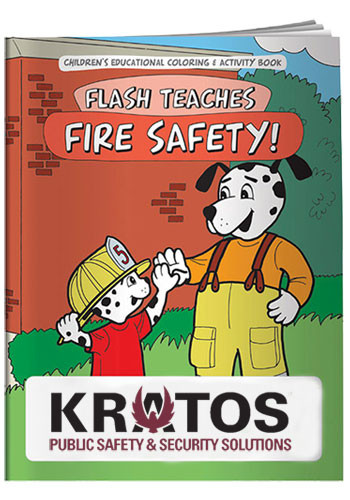 Bulk Coloring Books: Flash Teaches Fire Safety