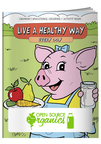 Promotional Coloring Books: Live a Healthy Way Every Day
