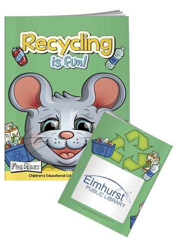 Promotional Coloring Books: Recycling Is Fun