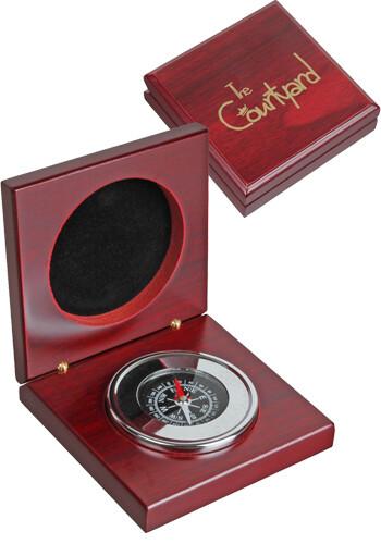 Custom Compass in Rosewood Box