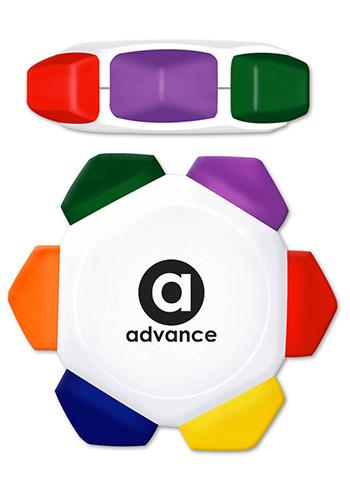 Promotional Crayo - Craze 6 Color Crayon Wheel - White