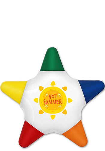 Crayo - Star 5 Color Crayon Star - Full Color Decal | LQ8690FCD