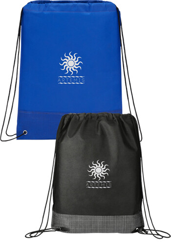 Wholesale Crossweave Heat Sealed Drawstring Bags