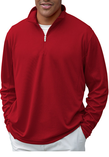 Vanspor Men's 1/4-Zip Mesh Tech Pullovers | 3405