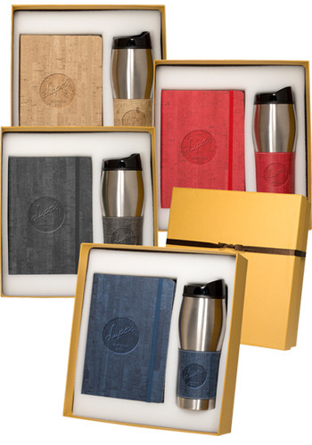 Personalized Casablanca Journals & Stainless Steel Tumblers Gift Sets