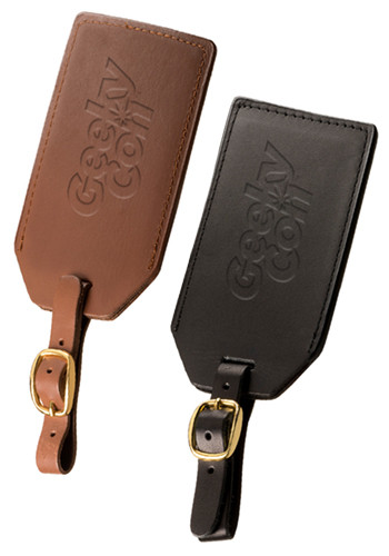 Customized Grand Central Sueded Full-Grain Leather Luggage Tags