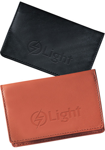 Promotional Jersey Sueded Full-grain Leather ID Card Cases