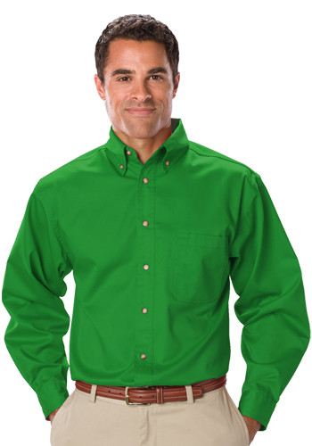 Blue Genereation Mens Long Sleeve Twill Dress Shirts   BGEN7217