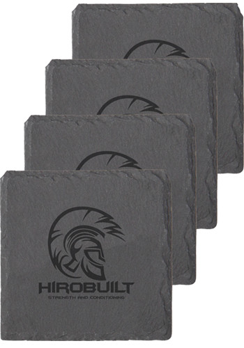 Wholesale Natural Black Slate Coasters Sets