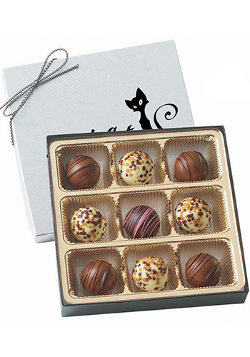 Custom Truffle Gift Box with 9 Assorted Truffles