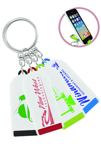 Phone Holders/Screen Cleaner Keychains