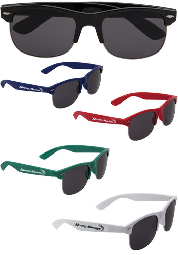Shatter Resistant Half Frame Sunglasses
