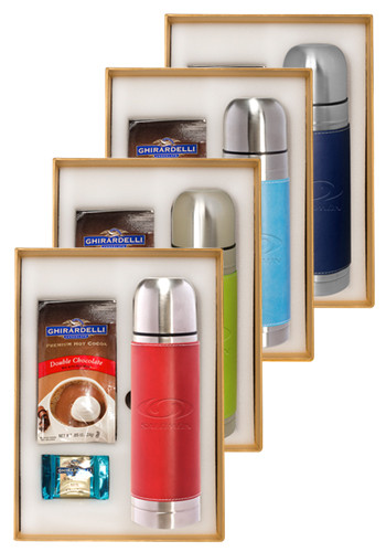 Bulk Tuscany™ Stainless Steel Thermos & Ghirardelli Deluxe Gift Set