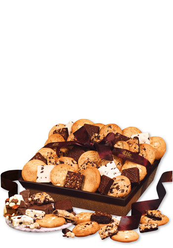 Customized Two Doz.en Home-Style Cookies & Brownies in a Cork-like Basket