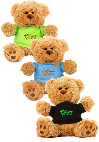 6 in. Plush Teddy Bear with Color T-Shirt | IVTB6T