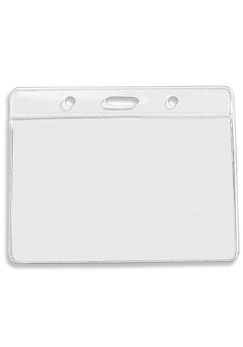 Personalized Clear Badgeholders Fits 4W x 3H Inserts