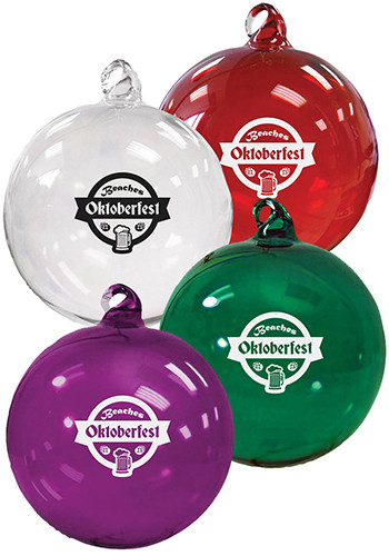 Promotional Hand Blown Glass Ornaments